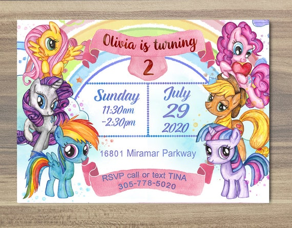 graphic relating to My Little Pony Printable Invitations referred to as My Minimal Pony Invitation,Watercolor Pony Invitation,Birthday Get together,Small Pony Social gathering,Printable Invitation, Electronic Invitatio Watercolor