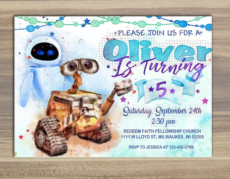 Wall E Invitation Birthday Party