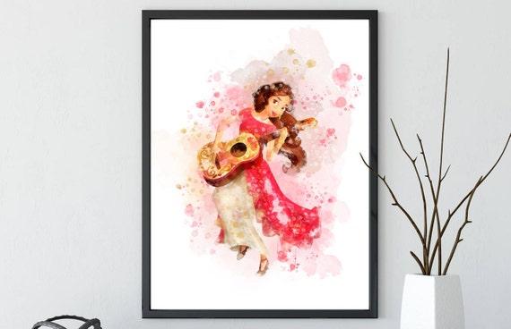 Elena of Avalor Art Print Disney Princess Wall Art Canvas | Etsy