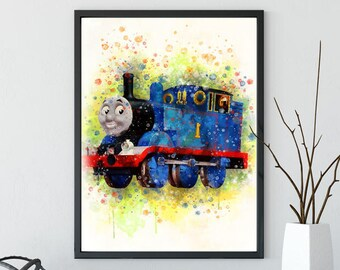 Thomas the Tank Engine, thomas and friends, Percy poster, Percy the small Engine,Nursery Percy engine print, nursery wall art, child poster