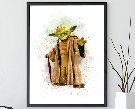 Star Wars Prints Yoda Wall Art Nursery Art Print Star Wars | Etsy