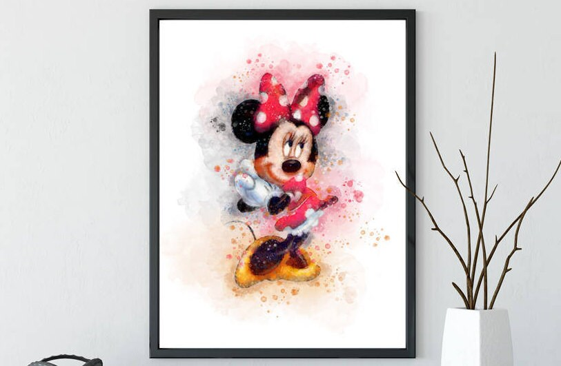 A4//A5//A6 Disney Mickey y Minnie plantilla