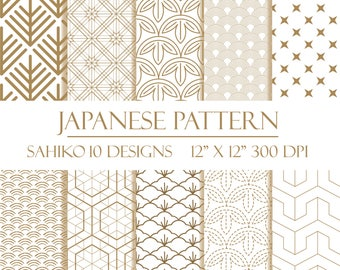 Japanese Pattern Digital Pack Kumiko Ramma Screen Etsy