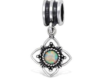 8cac48f20 Boho Fire Snow Silver Flower 925 Sterling silver Charm Bracelet Bead (Fits  European and Pandora Bracelets)