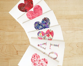Watercolor Love Cards. Hearts Cards. Watercolor Love Cards Set. Watercolor Anniversary Card. Hearts Card Set. Valentines Heart Cards
