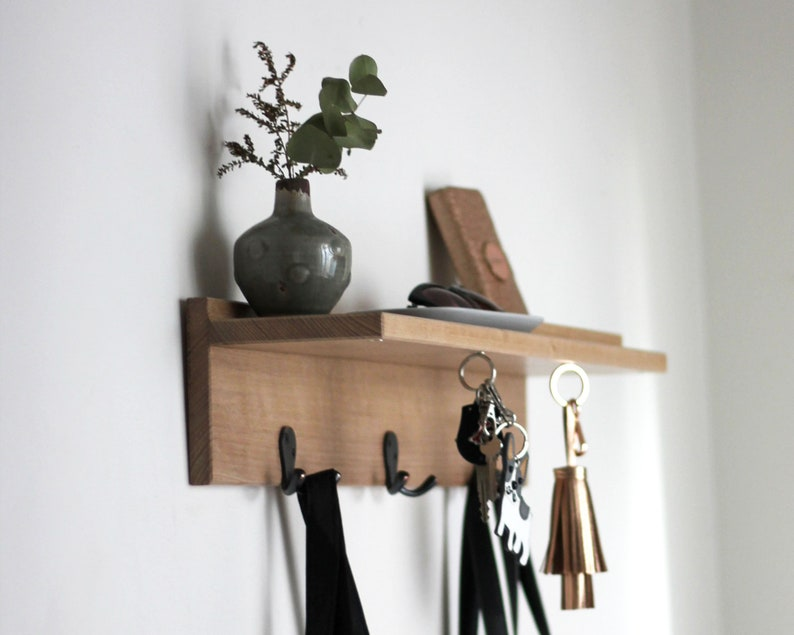 Coat Rack Floating Shelves Home Decor Coat Hook Key Etsy