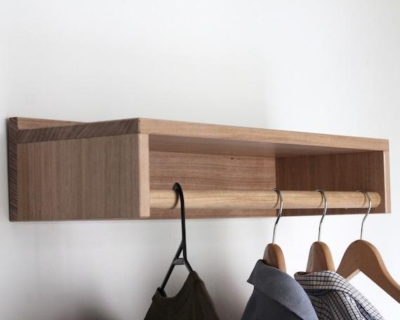 Wall Shelf Shelf Shelves Laundry Room Decor Floating Shelf Clothing Rack Coat Rack Wall Coat Rack Scandinavian