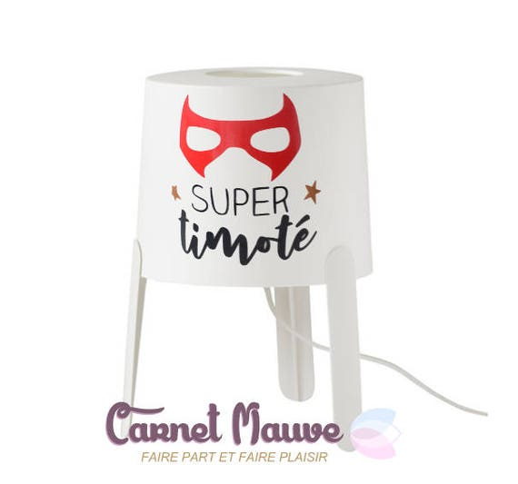 Lampe De Chevet Theme Super Heros Pour Petit Garcon Etsy