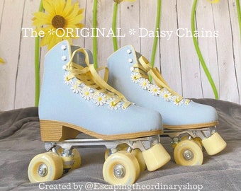 Roller Skate Accessories - Daisies - 1 PAIR of Daisies ( 2 chains total) Eyelet Flower Shoe Lace - The Original DAISY CHAINS ™