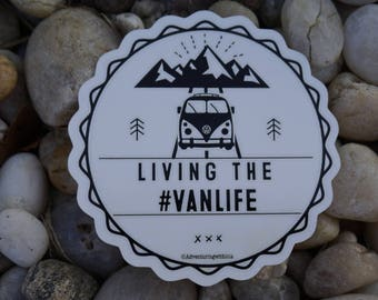 Living the vanlife decal VW WESTFALIA