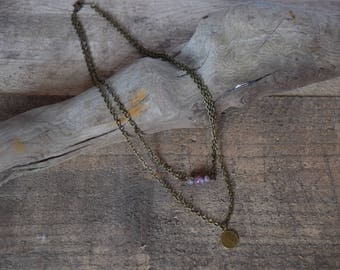 Setting sun. Fancy jasper necklace. Nature inspired jewelry.