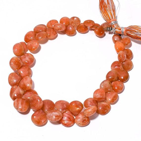 "Natural Gem Strawberry Quartz 6.5MM Size Faceted Onion Shape Beads Strand 8/"""