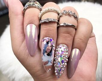 Cardi B Nails Etsy