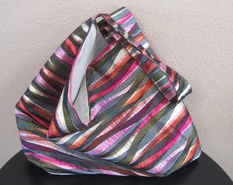 Colorful Waves Slouchy Bag