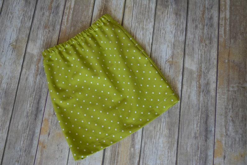 Child Size 6 Lime Green Polka Dot Skirt
