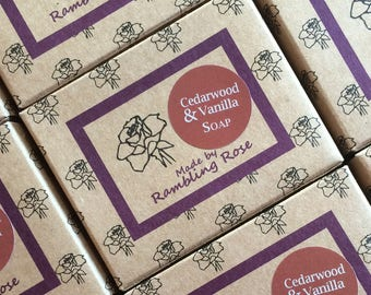 Cedarwood and Vanilla Soap (100g)