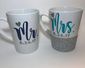 Mr. Mrs. Coffee mug set