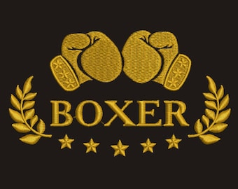 Boxer Machine Embroidery Designs, instantly download