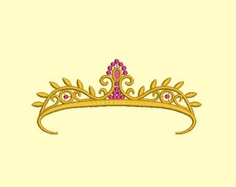 Princess crown Machine Embroidery Designs, instantly download