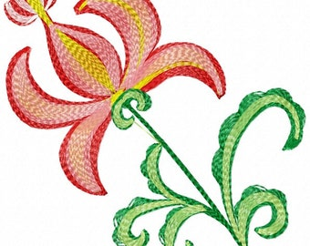 flower Machine Embroidery Designs, instantly download