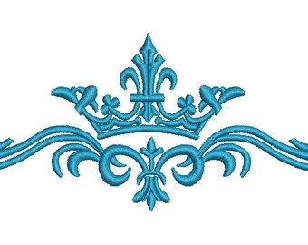patern and crown Machine Embroidery Designs, instantly download