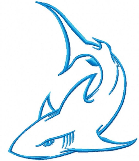 Shark Back Embroidery Pattern Embroidery Casual Wear Instant Download Embroidery Design Left chest