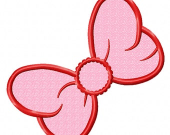 Bow applique Machine Embroidery Designs, instantly download
