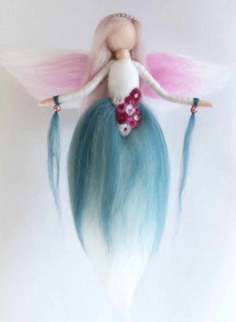 Witer Art Doll Needle Felted Snowdrop Fairy Wool Gift for her