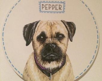 Pet Portrait Plaque, pet prortrait, pet memorial, cat portrait, cat lover, dog lover, commission pet portrait, pet painting,