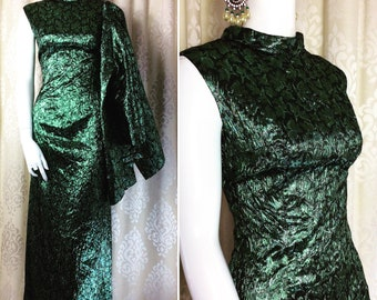 9cab160218e Fabulous Vintage 1960 s Sea Green Sparkly Lurex Jacquard Evening Two  Piece.. Sleeveless Dress   Jacket .. UK Size 12 Original Sixties 60 s