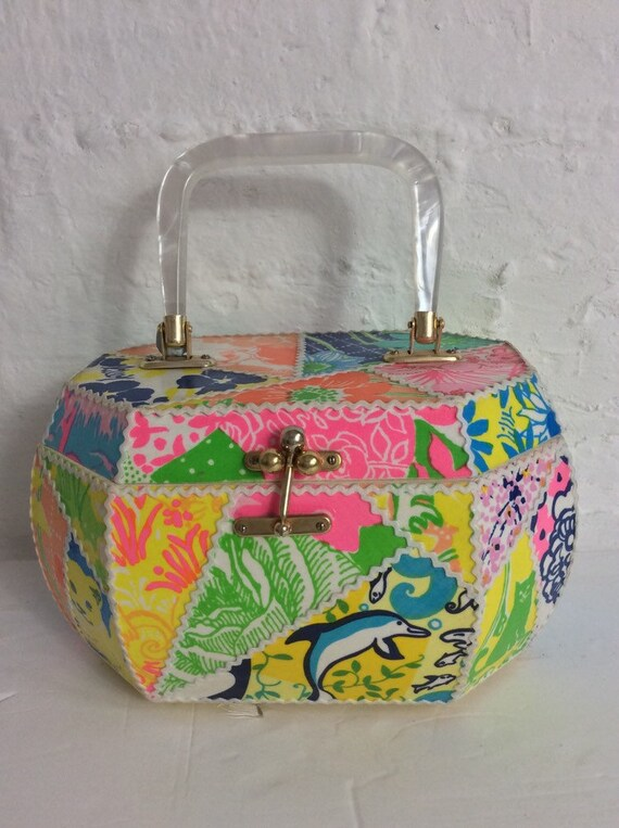 Fabulous Vintage 1960's Abstract Psychedelic Prin… - image 2