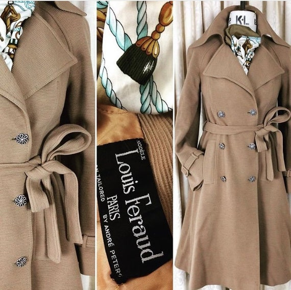 Classic 1970's Camel Trench Coat ... Label: Louis