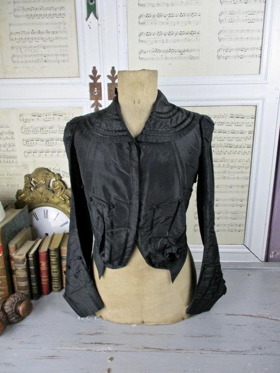 Victorian French Silk Bodice / Jacket c1800s