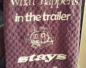 Dish Towel - what happens in the trailer