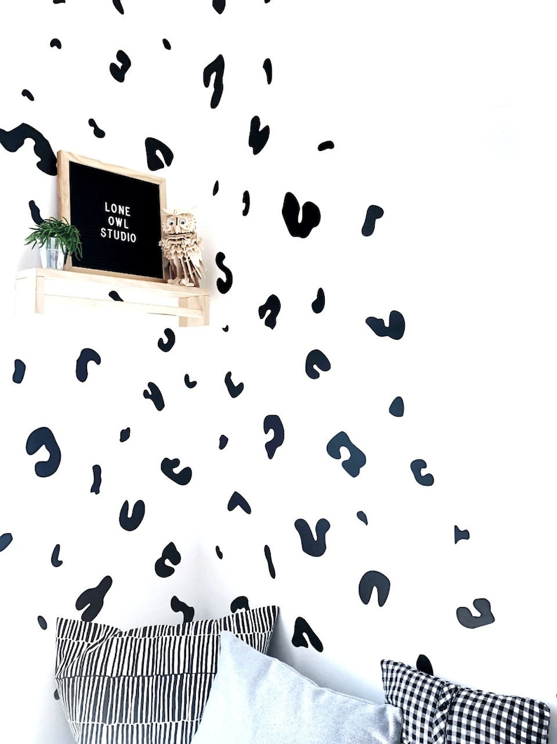 Leopard Print Nursery Decor Wall Decals