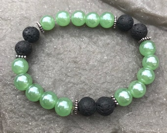 Essential Oil Lava Bead Diffuser Bracelet Green