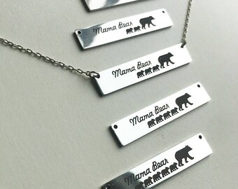 Mama Bear and Cubs Necklace