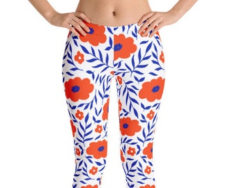 New Women's University of Florida Leggings SEC college Football Gator Leggings Florida Leggings