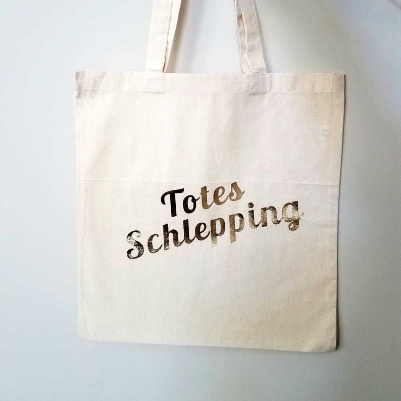 Totes Schlepping Tote Bag  Jewish Humor image 0