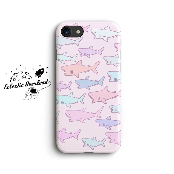 promo code f0471 ecb09 Pastel Shark iPhone X case, iPhone 8 Plus case, iPhone 7 case, iPhone 7  plus case, 6,6s, Cute, iPhone X Case, Gifts for bloggers, girl