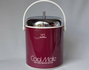 Ice Bucket Vintage Zojirushi Cool Mate, Barware, Mid Century Entertaining