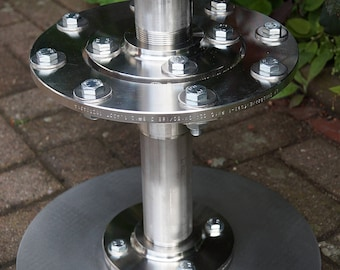Bar stool in stainless steel industrial design