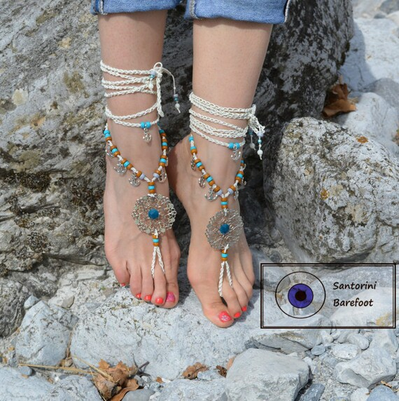 jewelry barefoot Barefoot BAREFOOT sandals shoes Gypsy anchor anklets Wedding sandal beach anklets nautical Sandals foot beach Hippie 4PRqWwtcTt