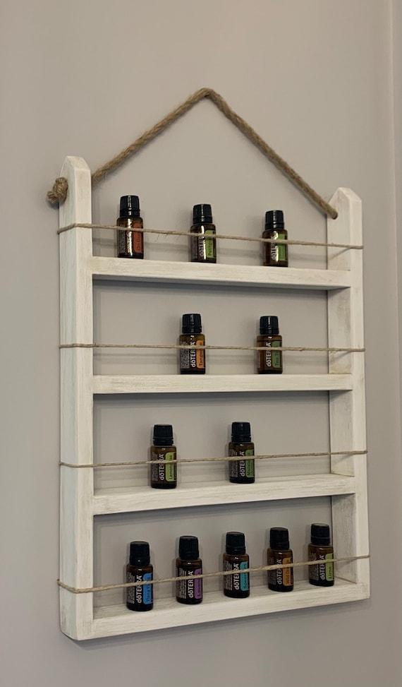 Wooden Antique white eo original shelf  Essential oil shelf  jrhomedecor essential oil organization essential oil rack essential oil decor