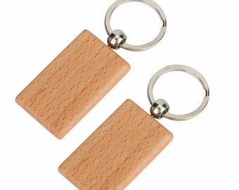 Keychain Wooden  Tag  DIY Bag  Gift  Charm  Key  Wood  10x  Ring Chain  Keyring