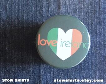 Magnet Aimant Frigo Ø38mm I Love Heart Coeur J/'aime Dublin Irlande