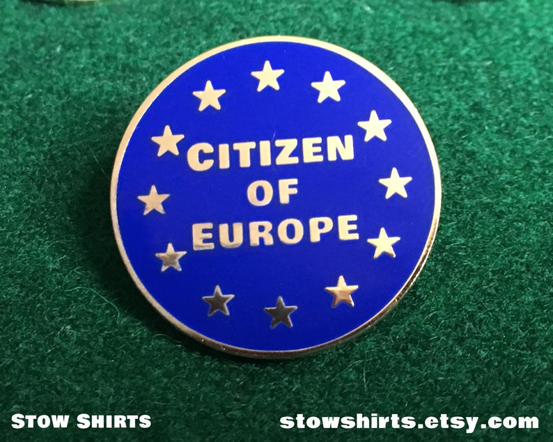 Citizen of Europe enamel pin EU enamel pin Europe metal pin image 0