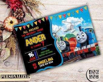 Thomas The Train Invitation / Thomas Train Birthday / Thomas Train Party / Thomas Birthday / Thomas Train / Boy Invitation