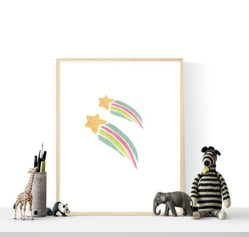 Nursery Wall Art Printables 6 Set Sun Cloud Rainbow Art Prints Rainbow Girls Bedoom Art Pastel Nursery Art Instant Download