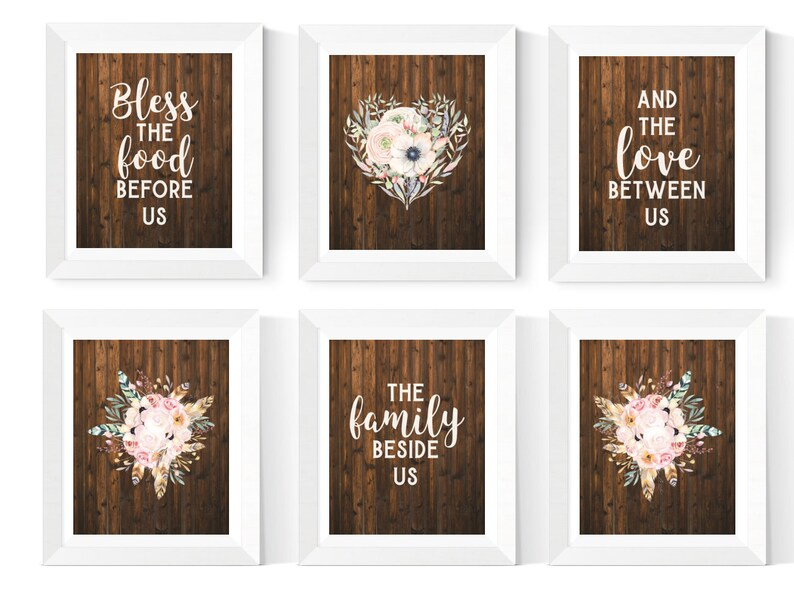 Rustic Kitchen Wall Art Printables Dining Room Prints 6